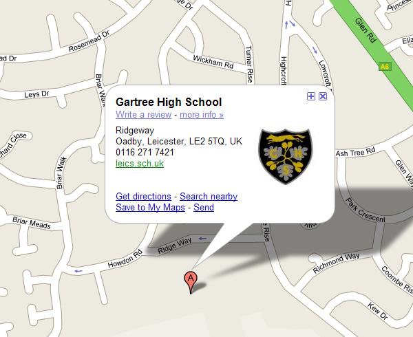 gartree map